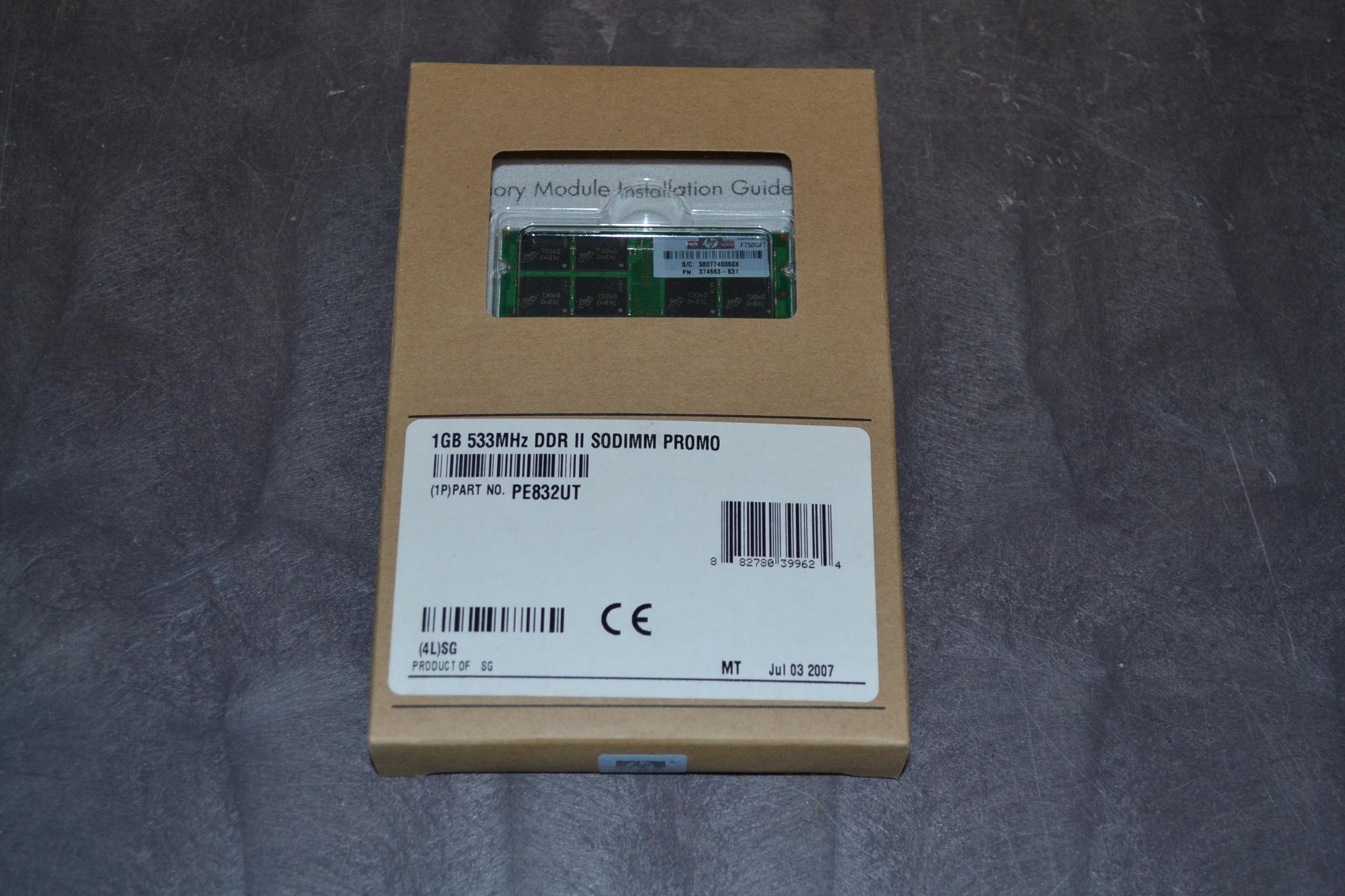 1GB 533MHZ DDR II Memory Module SODIMM