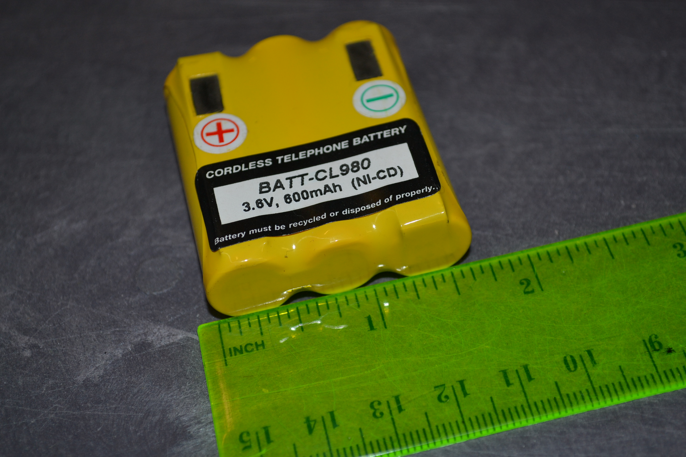 Dantona CL980 3.6V Battery For Cidco CL940B Telephone