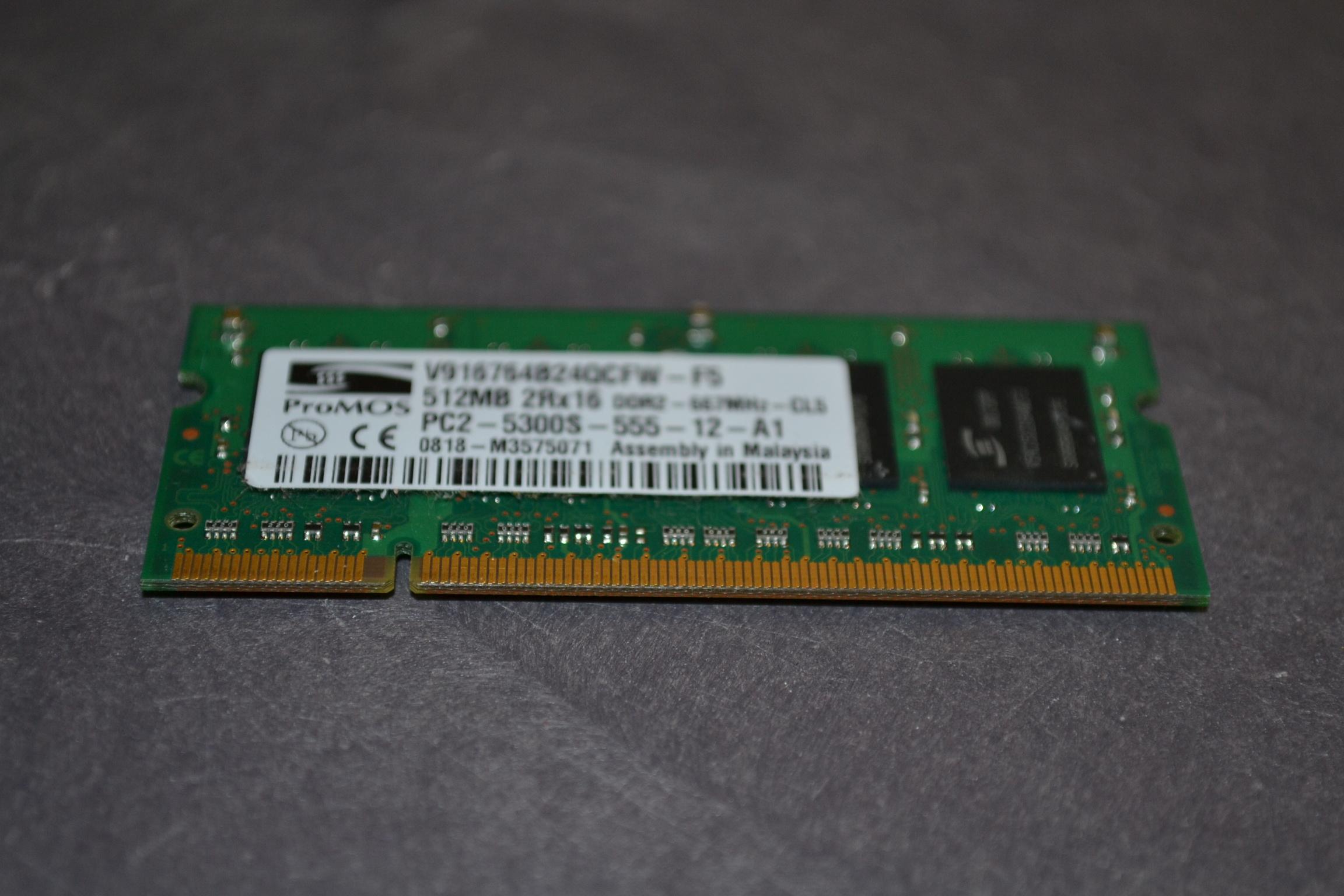 512MB DDR2 667MHZ PC2-5300S V916764B24QBFWF5 Promos V916764B24QBFWF5