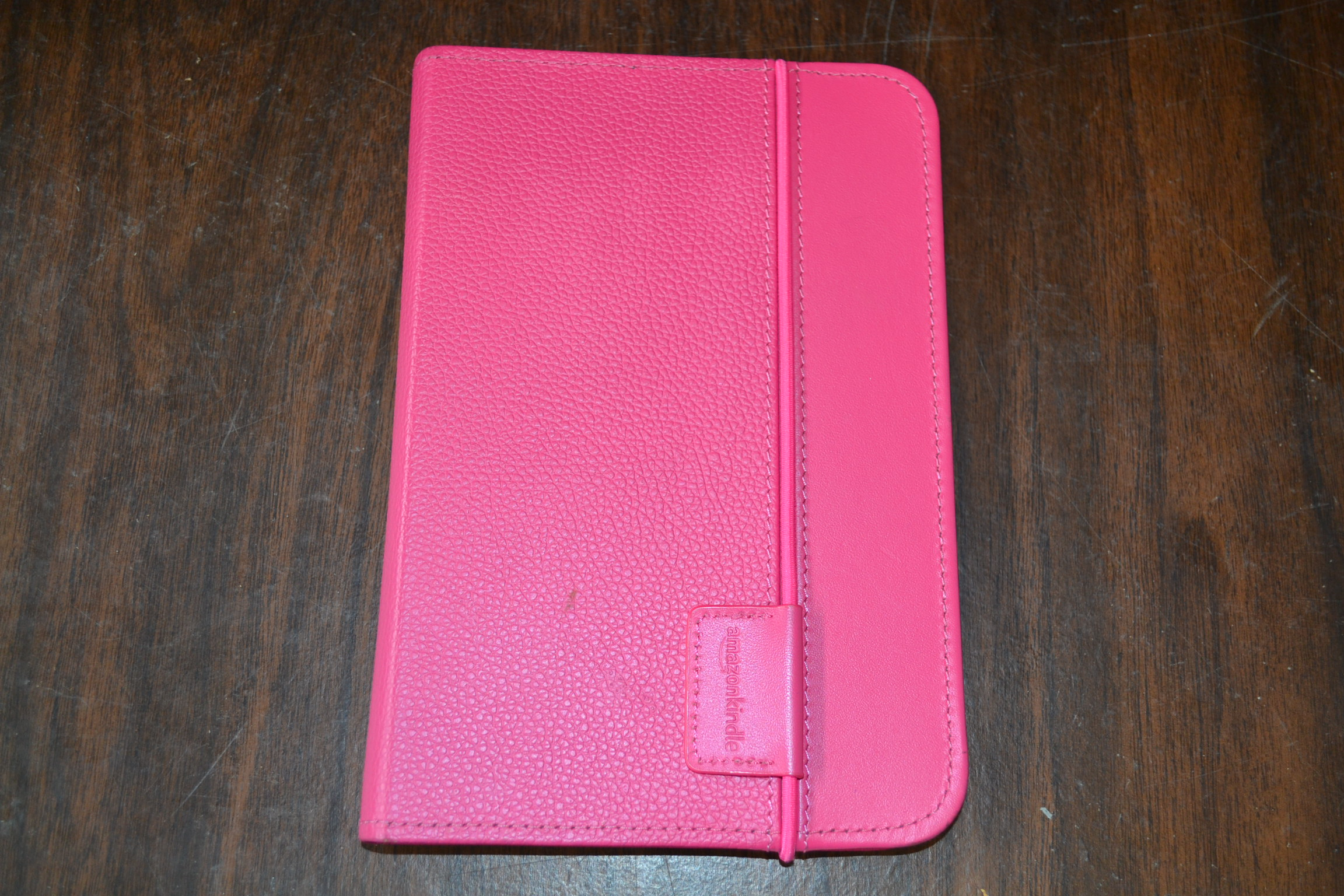 Kindle Lighted Leather Cover Hot Pink Fits Kindle Keyboard