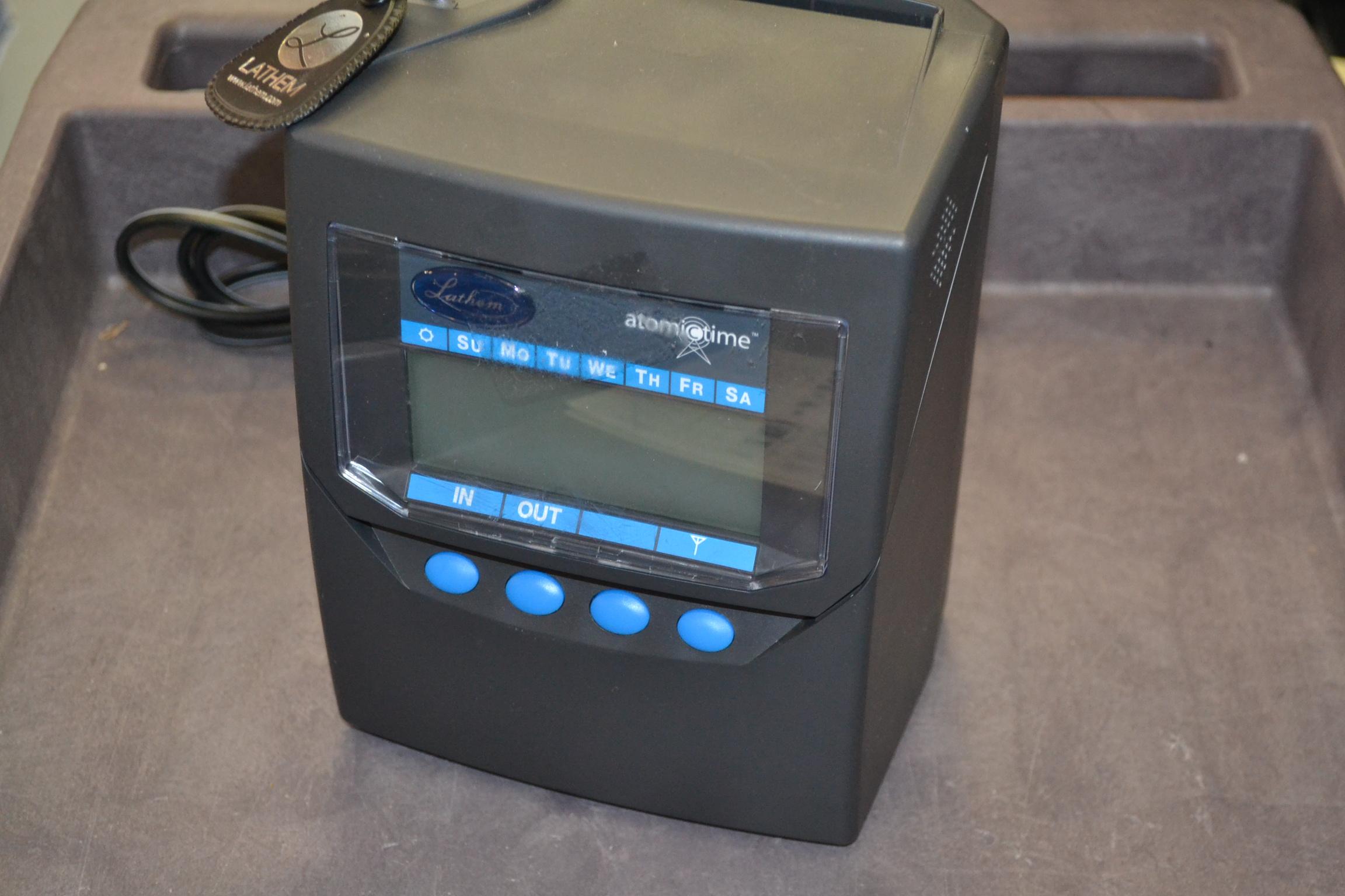 lathem time clock 7500e manual