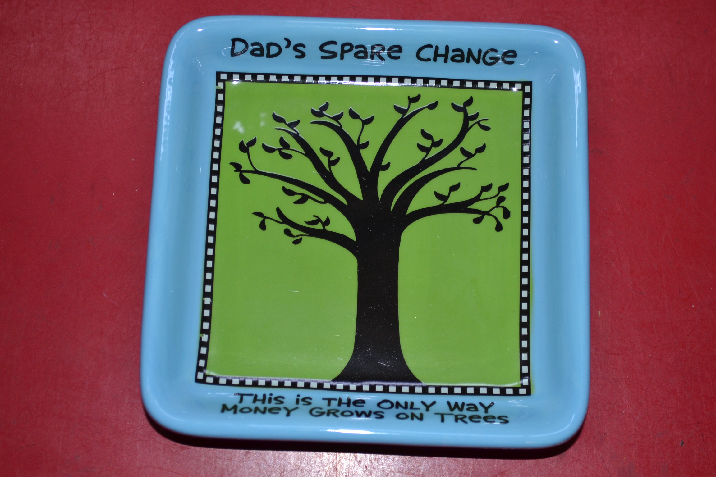 Enesco 4026944 Our Name Is Mud By Lorrie Veasey Money Tree Tray Blue