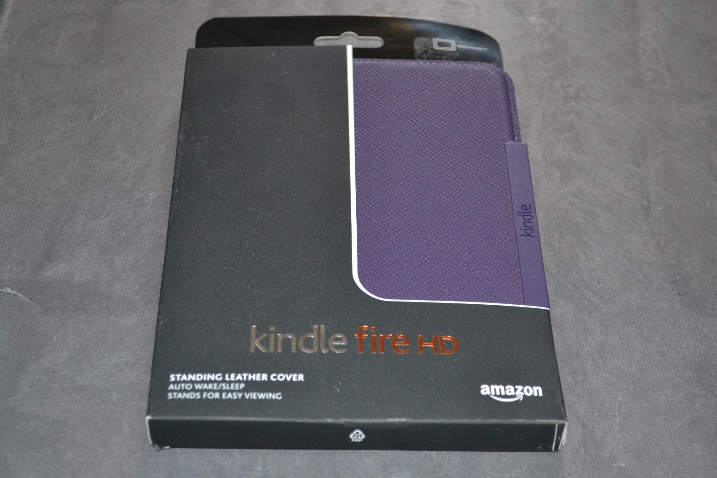 Amazon Kindle Fire HD 7 Standing Leather Case Royal Purple Will Only