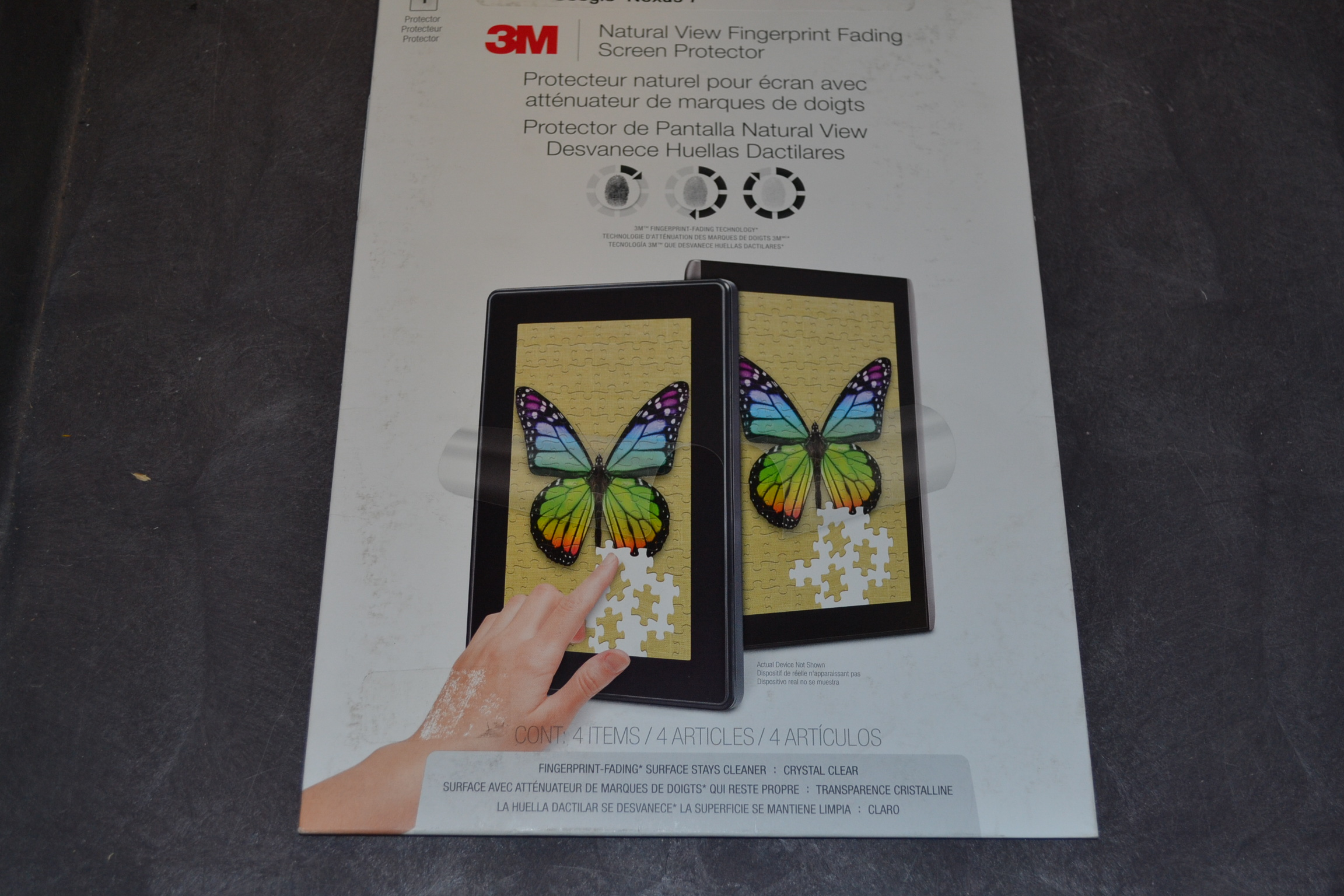 3M Natural View Natural View Fingerprint Fading Screen Protector Google Nexus 7