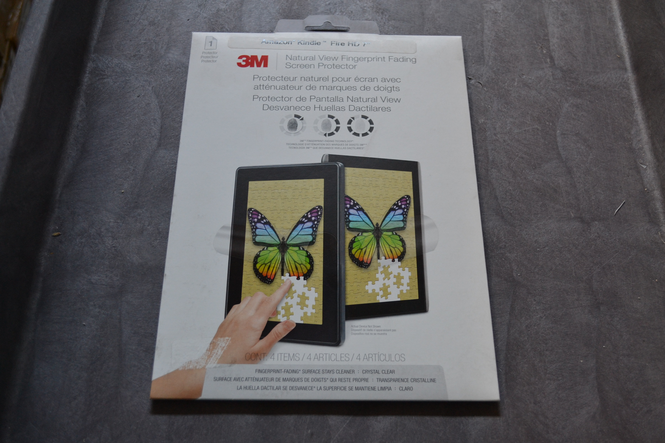 3M NVFF828502? Natural View Fingerprint Fading Screen Protector Amazon Kindle? F