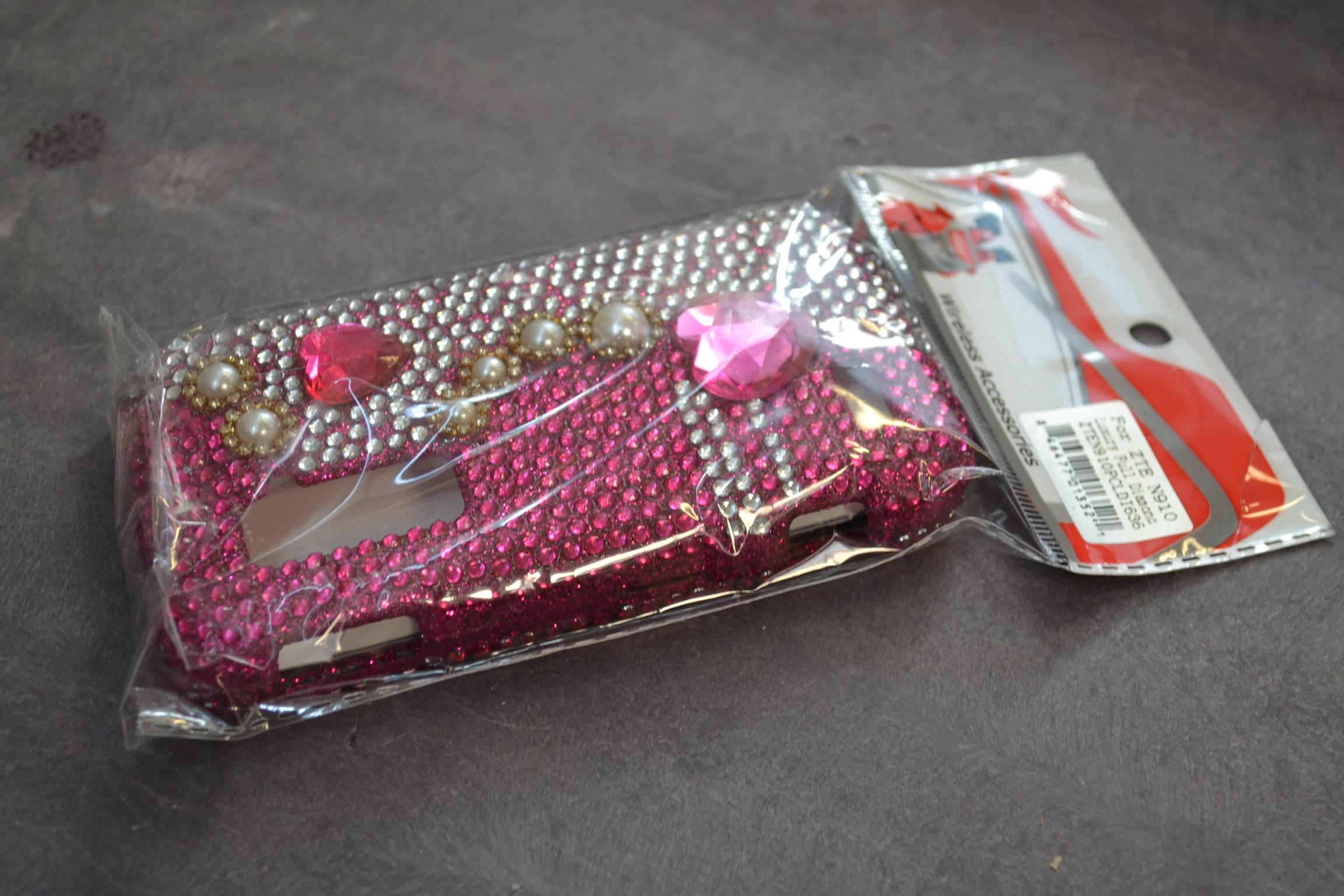 Dazzling Diamond Bling Case For ZTE Anthem 4G N910 - Pearl Pink