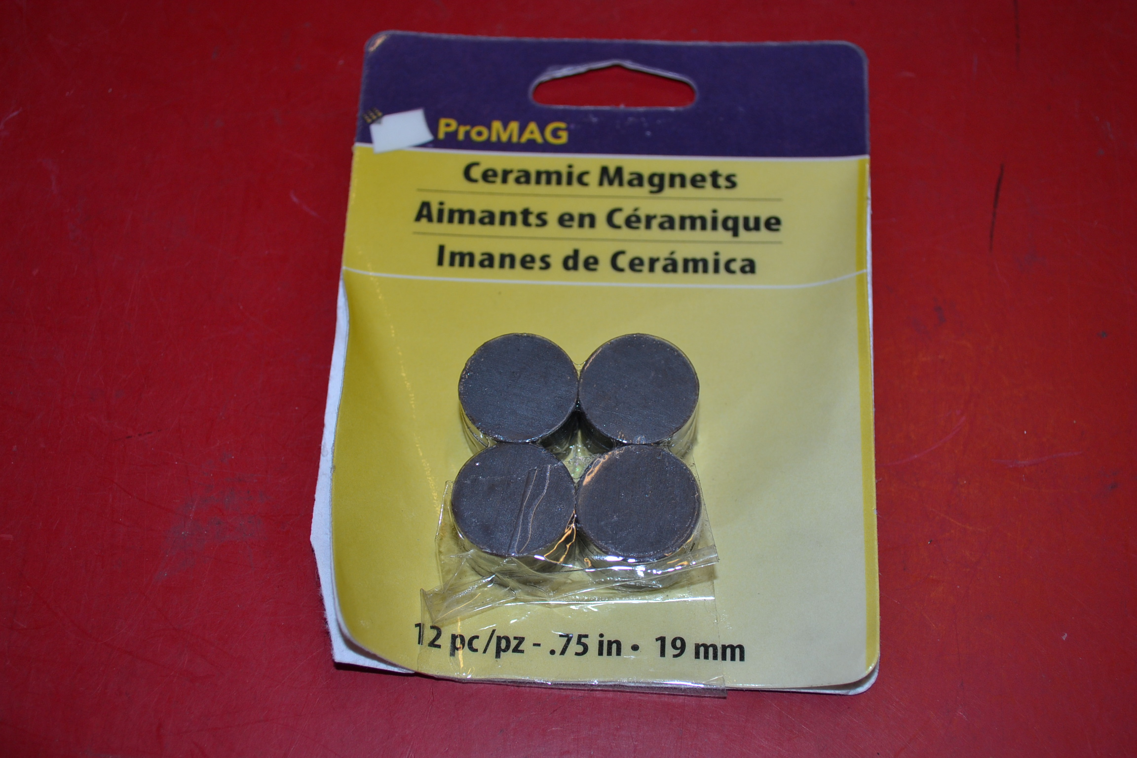 Promag AFG12502 Round Ceramic Magnet 0.75-Inch 12 Pack Silver