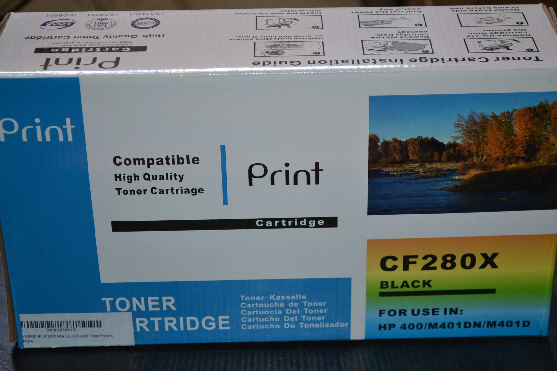 CF280X Toner Cartridge for LaserJet Pro HP 400 M401DN M401D Black